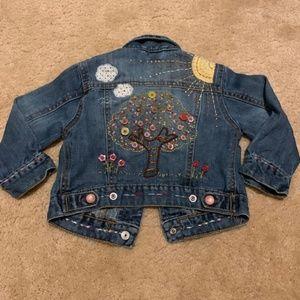 Baby Gap Denim Jean Jacket w Embroidery 2T